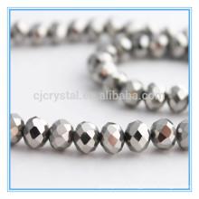 Серебряные кристаллические шарики, шарики оптовых продаж, шарики rondelle