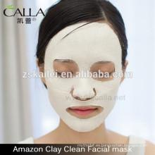 máscara de barro iluminador para la cara