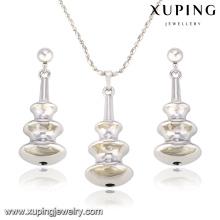 63839 Fashion Creative Rhodium aleación de cobre en forma de conjunto de joyería de imitación