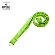 Printed Green Tubular Neck Lanyard with Metal Split Ring