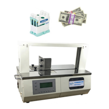Semi automatic table type paper plastic banding machine test paper bundling machine
