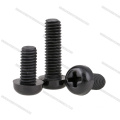 Parafusos de nylon preto Phillips M3x6mm
