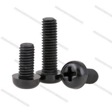 Tornillos Phillips de nylon negro M3x6mm