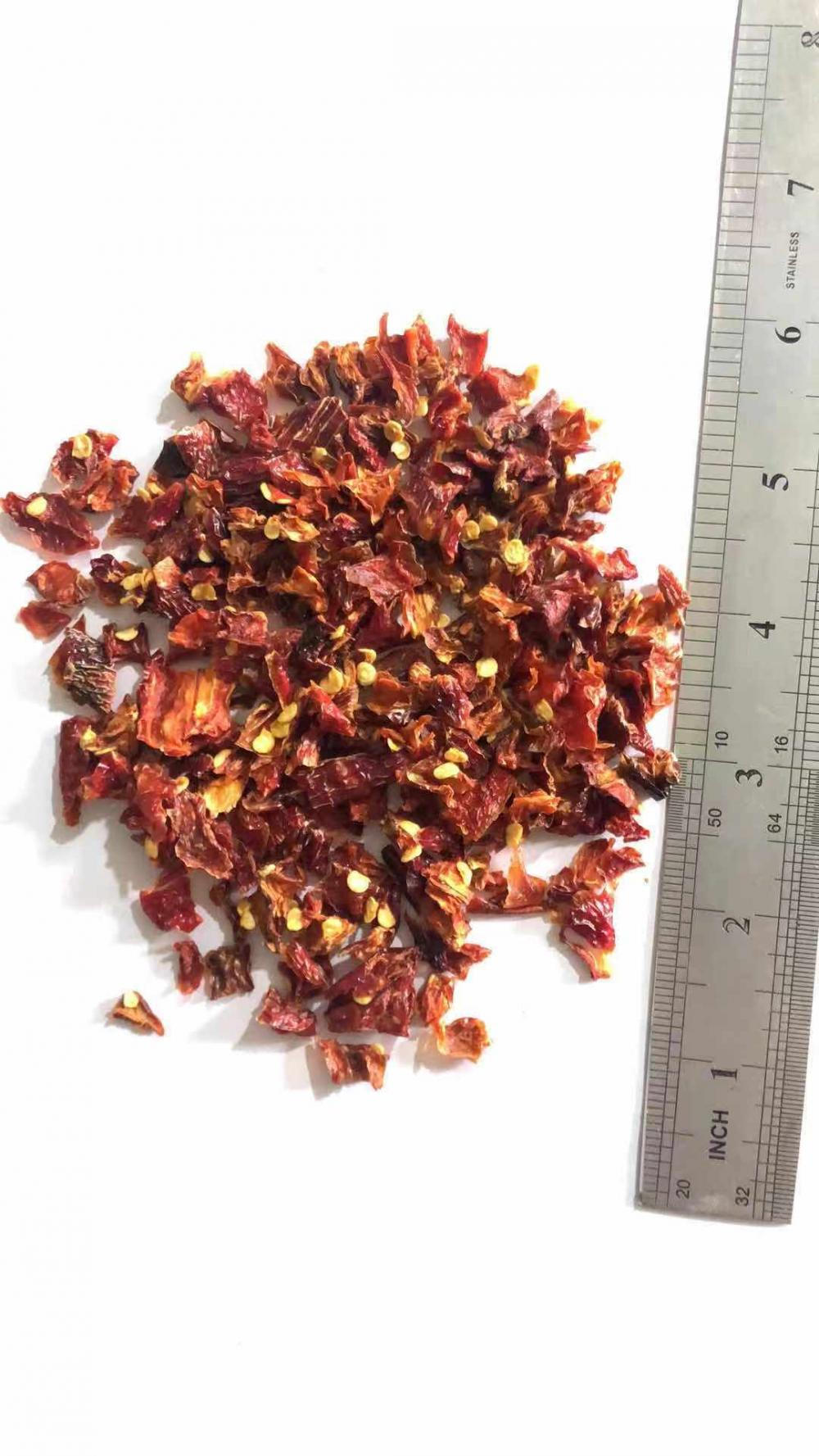 Dehydrated Air Dried Red Jalapeno Granules 1/4""