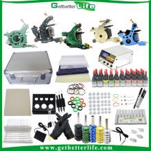 Venta completa 5 máquinas Kit 40 tinta alimentación determinada fuente gratis Kits de tatuaje con regalos gratis