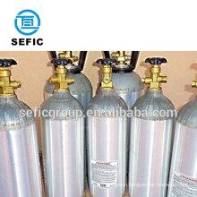 aluminum/steel 40 Litre co2 gas cylinder for drink, beer, beverage refillable bottled