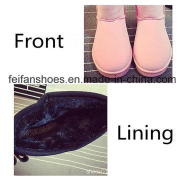 Footwear Women′s Snow Boots Suede Warm Winter Boots