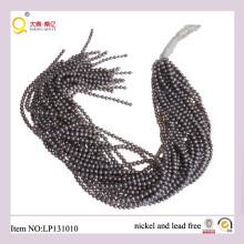 Perle d'eau douce de 4-5mm gris de pommes de terre perdent des chaînes de perles