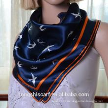 Новейшие модные животных печатных квадратный шарф горячая распродажа шарф