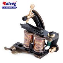 Solong Custom Bronze Handmade 8 Wraps Puro Cobre Máquina de Tatuagem Automática Máquina de Bobina De Tatuagem Profissional