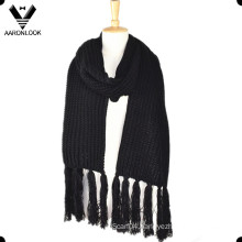 Winter Warm Knitted Long Fringe Scarf