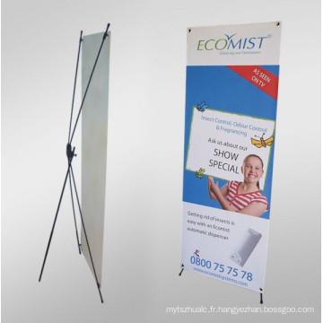 la bannière portative X stands pop up affiche stand de bannière de salon, bannière de stand