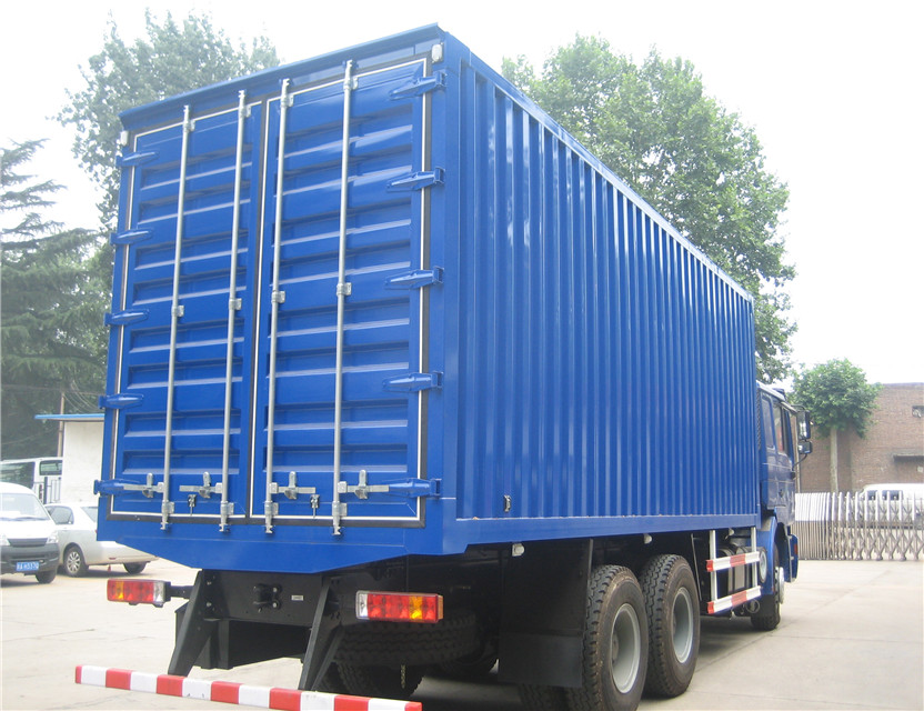 شاحنة Box Shacman مع محرك weichai الصين 6x4 فان شاحنة