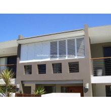 Einstellbarer Wohnbereich Weißer Powder Coat Window Louver