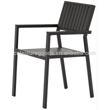 Aluminium polywood metal dining chair