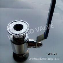 """2-PC SUS316 1"""" Sanitary Ball Valve with Hand Lever"""