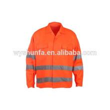 Combinaisons réfléchissantes de classe D / N AS / NZS, veste haute visibilité avec bandes 3M, tissu 100% poly-coton