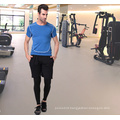 Plain Spandex/Polyester Sportswear Gym T-Shirt for Men