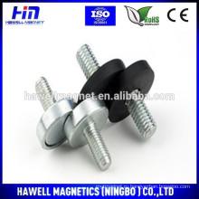 Оптовые круглые магниты на основе неодима с резиновым покрытием