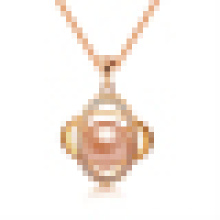 Women′s Natural Pearl Oval Pendant Necklace with Chain