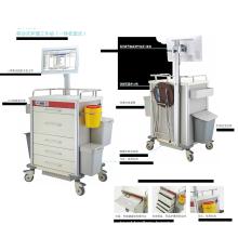 Hospital Furniture Doctor Workstation Height Adjustable Medical Computer Cart Trolley