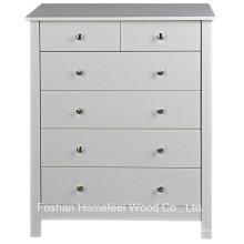 Cabinet de chambre à coucher en bois 2 + 4 tiroirs (HC14)