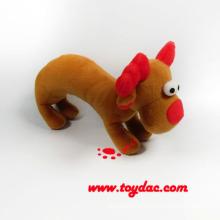 Plush Christmas Reindeer Rattle