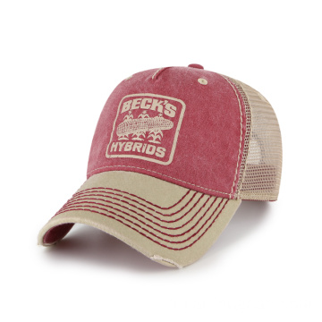 Casquette trucker simple avec trous Freedom et points épais