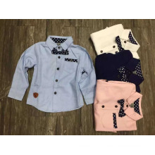 camisa dos meninos do bebê da forma / estilo europeu e coreano caçoa a camisa