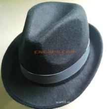 Sombrero de fieltro de Fedora de la marca de fábrica de encargo con Sweatband