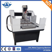 Nova JK - 6060M cnc gravura máquina apropriada para cartas de gravura em metal