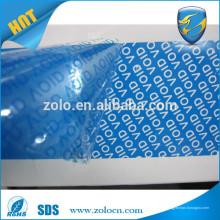 China Factory Hot Sale Anti Tamper Proof fita de segurança, adesivo garantia VOID fita personalizada
