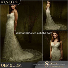 High Quality Custom Made peach color wedding dresses