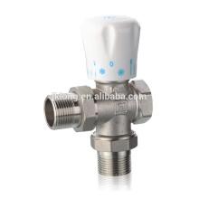 363 vernickeltes Messing-Winkel-Kühler-Ventil für HVAC, 16Bar, Thermostat-Ventil, Temperatur-Sensor-Ventil