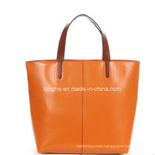 Fashion Portable PU Leather Ladies Tote Bag (ZXS0041)
