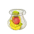 Fruit Basket Creative Countertop Iron Plated Vegetable Mesh Metal Bowl Kitchen Storage Wire Fruit Basket