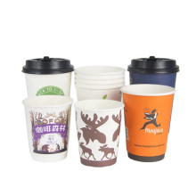 cheap takeaway hot type paper cups_coloured custom logo  coffee paper cups