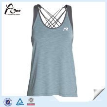 Polyester Spandex Women Gym Stringer Vest for Fitness