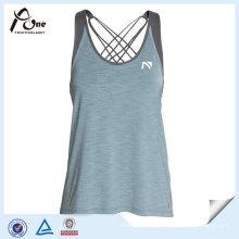 Polyester Spandex Women Gym Stringer Vest for Fitness