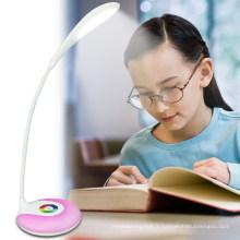 Lampe de table à LED souple rechargeable avec 256 couleurs vivantes modifiables (LTB715A)