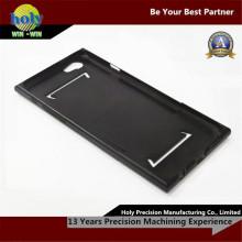 Glattes schwarzes Ende CNC-Aluminium zerteilt iPhone Fall-kundenspezifische Bearbeitungsteile CNC
