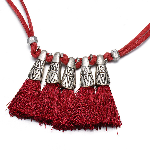 alloy tassel necklaces