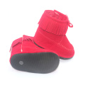 Rubberen zool baby winter mocassins laarzen