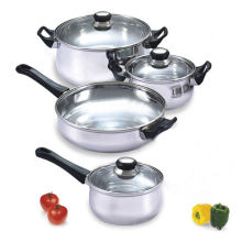 Home Basics Cooking 7 Piece Stainless Steel Cookware Set