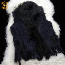 Фабричная прямая оптовая цена Подлинная кролика вязаная без рукавов меховой жилет
