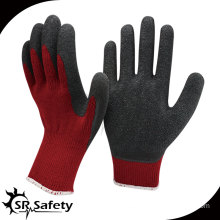 SRSAFETY 10G acrylic latex coated safety working gloves winter gloves latex dipped gloves