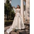 Langes Hülsenhochzeitskleid Brautkleidstickereihochzeitskleid Philippinen moslemisches Hochzeitskleid