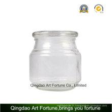 Glass Metro Jar pour bougie remplie Home Decor