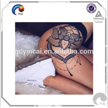 Hips sexy tattoo sticker with beauty design stylish and fashionable Sexy hips tattoos body art temporary tattoo sticker <<< Bright Flower Tattoo Hips <<<