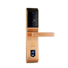high quality smart card lock with fingerprint/code/interaction/Mechanical Key